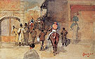 Leaving the Paddock c1866 - Edgar Degas reproduction oil painting