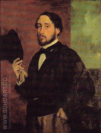 Self Portrait 1863 - Edgar Degas reproduction oil painting