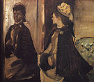 Portrait of Mme Jeantaud at the Mirror 1875 - Edgar Degas reproduction oil painting