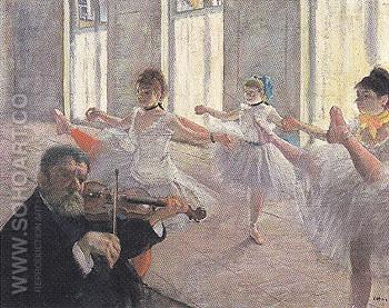 The Rehearsal c1873 - Edgar Degas reproduction oil painting