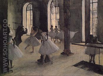 The Dance Rehearsal c1873 - Edgar Degas reproduction oil painting