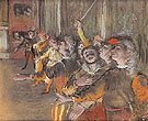 The Chorus 1877 - Edgar Degas reproduction oil painting