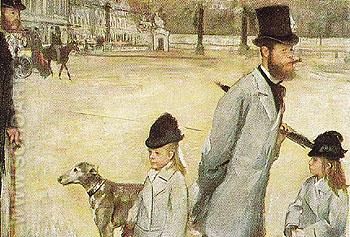 Place de la Concorde 1876 - Edgar Degas reproduction oil painting
