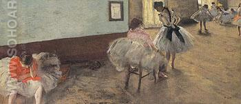 The Dance Lesson c1879 - Edgar Degas reproduction oil painting