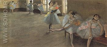 The Dancing Lesson c1880 - Edgar Degas reproduction oil painting