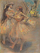 Two Dancers in the Wings c1880 - Edgar Degas reproduction oil painting