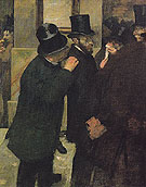 At the Stock Exchange c1878 - Edgar Degas reproduction oil painting