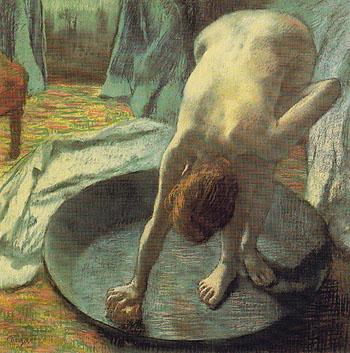 The Tub c1885 - Edgar Degas reproduction oil painting