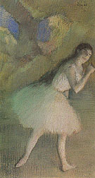 Ballet Dancer on Stage c1885 - Edgar Degas reproduction oil painting