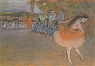 Ballet Scene c1887 - Edgar Degas reproduction oil painting
