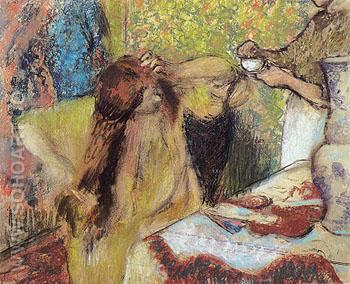 Woman at Her Toilette 1894 - Edgar Degas reproduction oil painting