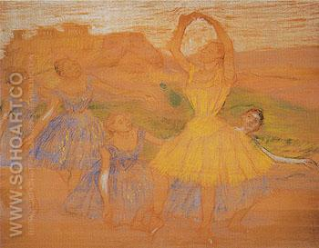 Group of Dancers c1894 - Edgar Degas reproduction oil painting