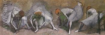 Frieze of Dancers c1895 - Edgar Degas reproduction oil painting