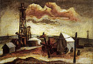 Camp with Oil Rig c1930 - Jackson Pollock