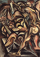 Untitled Naked Man with Knife c1938 - Jackson Pollock
