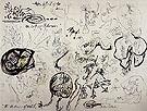 Untitled c1943 - Jackson Pollock