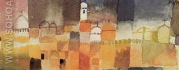 View of Kairuan 1914 - Paul Klee reproduction oil painting