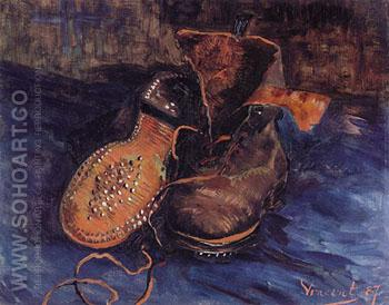 Pair of Boots 1887 - Vincent van Gogh reproduction oil painting