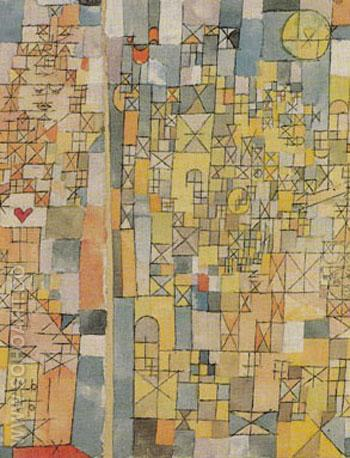 Dogmatic Composition 1918 - Paul Klee reproduction oil painting