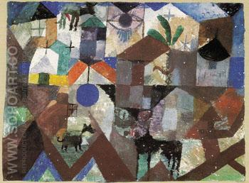 Zoological Garden 1918 - Paul Klee reproduction oil painting