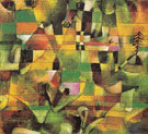 Landscape with Yellow Church Tower - Paul Klee reproduction oil painting