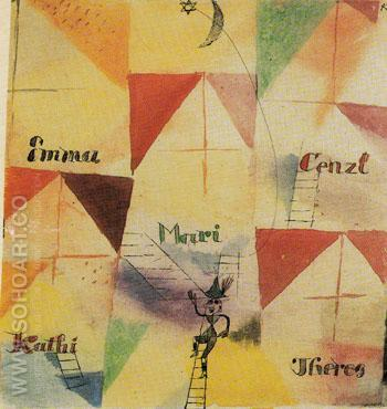 The Bavarian Don Giovanni 1919 - Paul Klee reproduction oil painting