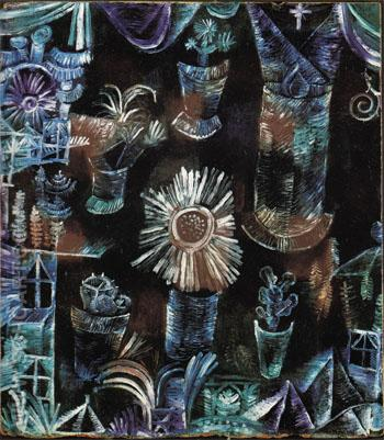 Still Life with Thistle Flower 1919 - Paul Klee reproduction oil painting