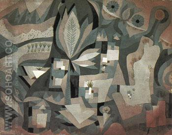 Dry Cool Garden 1921 - Paul Klee reproduction oil painting
