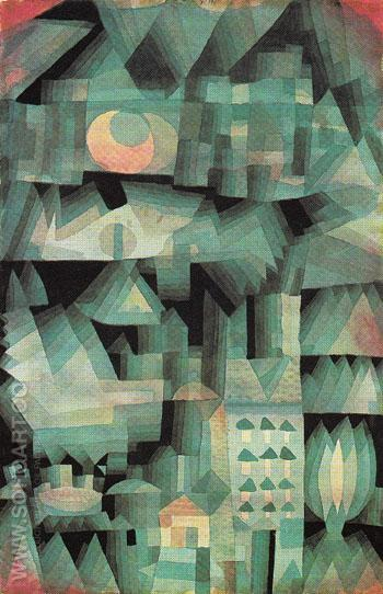 Dream City 1921 - Paul Klee reproduction oil painting