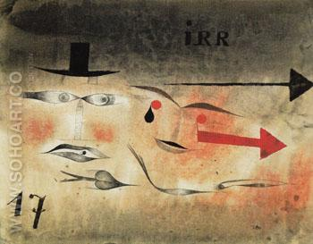Seventeen irr 1923 - Paul Klee reproduction oil painting