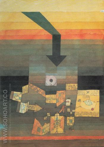 Stricken Place 1922 - Paul Klee reproduction oil painting