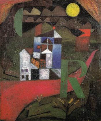 Villa R 1919 - Paul Klee reproduction oil painting