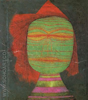 Actors Mask 1924 - Paul Klee reproduction oil painting