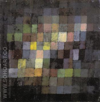 Ancient Sound Abstract on Black 1925 - Paul Klee reproduction oil painting