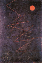 Colour Lightning 1927 - Paul Klee reproduction oil painting