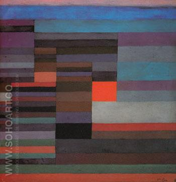 Fire in the Evening 1929 - Paul Klee reproduction oil painting