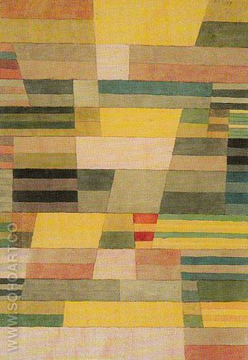 Monument in Fertile Ground 1929 - Paul Klee reproduction oil painting