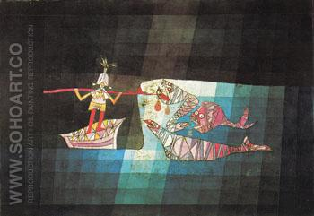 Battle Scene the Comic Opera The Seafarer 1923 - Paul Klee reproduction oil painting