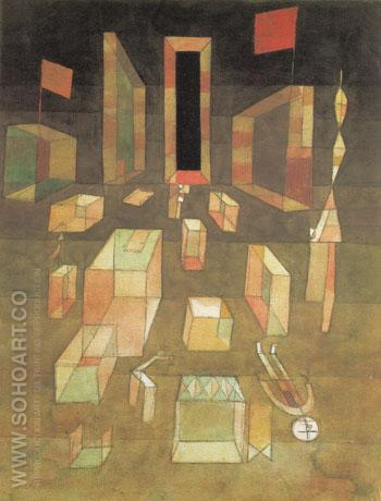 Uncomposed Objects in Space 1929 - Paul Klee reproduction oil painting