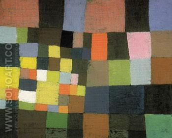 Garden in Bloom 1930 - Paul Klee reproduction oil painting