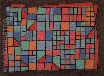 Glass Facade 1940 - Paul Klee reproduction oil painting
