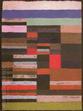 Individulized Measurement of the Strata 1930 - Paul Klee reproduction oil painting
