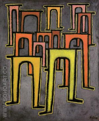 Revolution of the Viaduct 1937 - Paul Klee reproduction oil painting