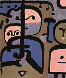 Three Exotic Youths 1938 - Paul Klee reproduction oil painting