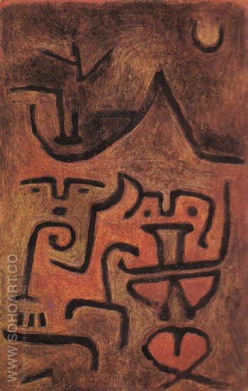 Earth Witches 1938 - Paul Klee reproduction oil painting