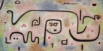 Insula Dulcamara 1938 - Paul Klee reproduction oil painting