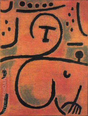 Decadent Pomona Slightly Reclined 1938 - Paul Klee reproduction oil painting