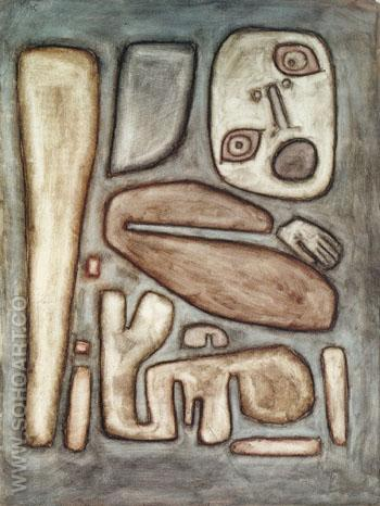 Outbreak of Fear 1939 - Paul Klee reproduction oil painting