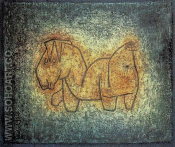 Cross Breed 1939 - Paul Klee reproduction oil painting