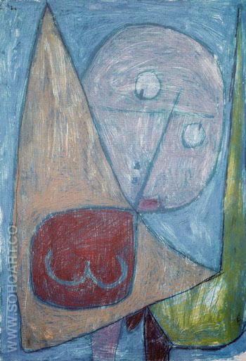 Angel Still Female 1939 - Paul Klee reproduction oil painting